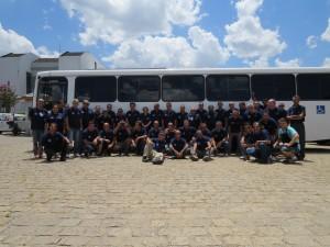 Motoristas reunidos na Centran para treinamento